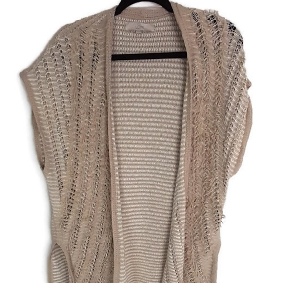 LOFT Sweaters - LOFT Open Front Sleeveless Cardigan Size Small